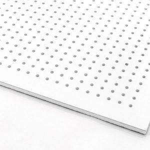تایل گچی آکوستیک پانچ دایره ای روکش PVC با فلیس سفید (۱۸-۶)