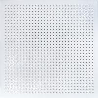 تایل گچی آکوستیک پانچ دایره ای رنگ شده (سفید)با فلیس سفید (۱۸-۶) کناف