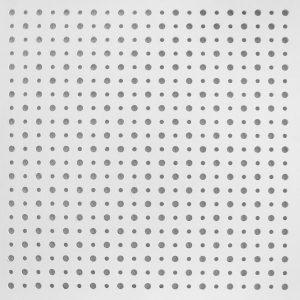 تایل گچی آکوستیک پانچ دایره ای رنگ شده(سفید)با فلیس سفید (۵۰-۱۲-۸)